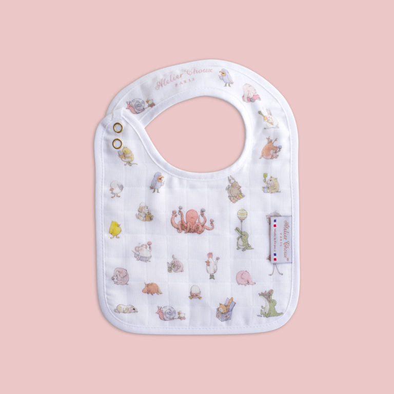 Atelier Small Bib 'Little Friends'