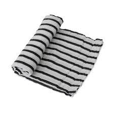 Little Unicorn Swaddle Breton Stripes
