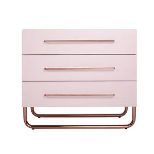 Rose Gold Accented Changing Table