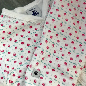 Petit Bateau English Roses Pajamas - 2 piece set