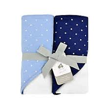 Hooded Bath Towels Light and Navy Blue