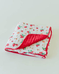 Quilt Cotton Muslin Strawberry