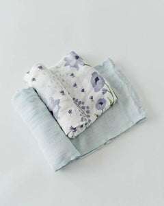 Little Unicorn Deluxe Wildflower-2 pack set swaddle