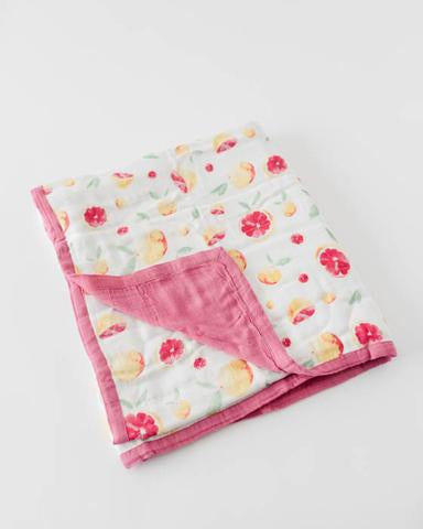 Quilt Muslin Cotton Grapefruit