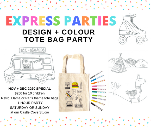 2020 SPECIAL TOTE BAG EXPRESS PARTY - Ages 6 - 10