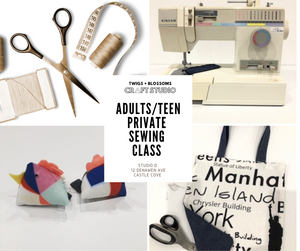 ADULT/ TEEN PRIVATE SEWING LESSON