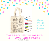 PARIS - COLOUR A TOTE BAG - AT HOME PARTY KIT for 12
