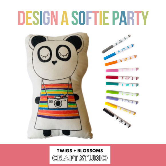 DESIGN A SOFTIE BIRTHDAY PARTY - Ages 6+