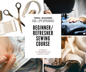 Adult Beginner Sewing (Machine) Course - 4 x 2hr classes - Friday 10-12 starting 23 October