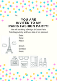 PARIS - COLOUR A TOTE BAG - AT HOME PARTY KIT for 6