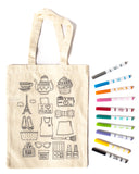 PARIS - COLOUR A TOTE BAG - AT HOME PARTY KIT for 8