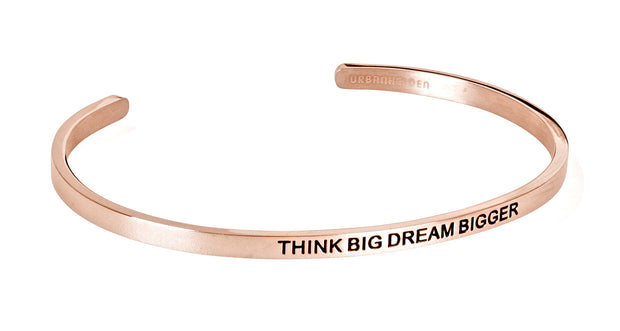 Think big dream bigger<br>Rosegold
