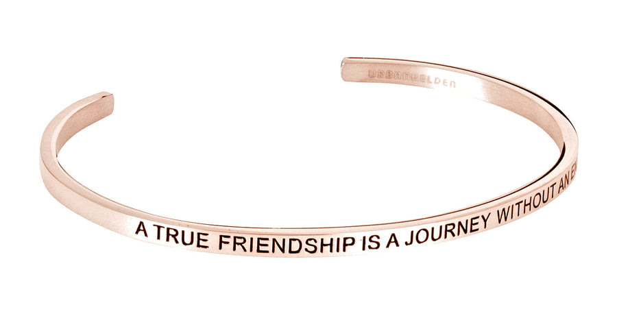 A true friendship is a journey without an end<br>Rosegold