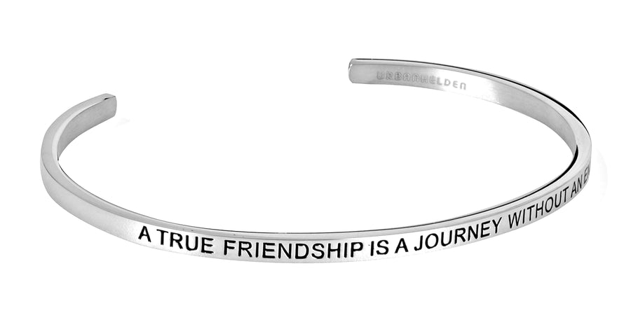 A true friendship is a journey without an end<br>Silber