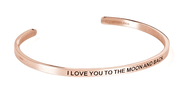 I love you to the moon and back<br>Rosegold