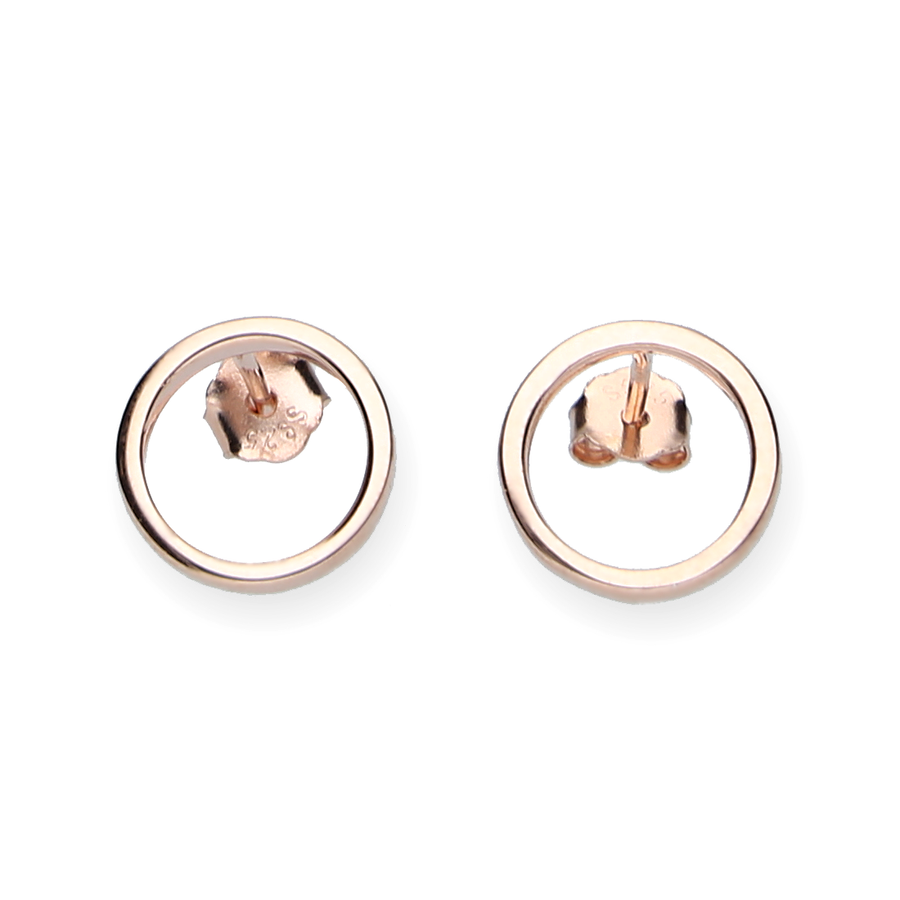 Ohrstecker Kreis Filigran - Rosegold - URBANHELDEN - Be inspired !