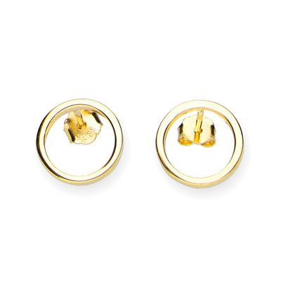 Ohrstecker Kreis Filigran - Gold - URBANHELDEN - Be inspired !