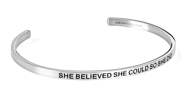 She believed she could so she did<br>Silber