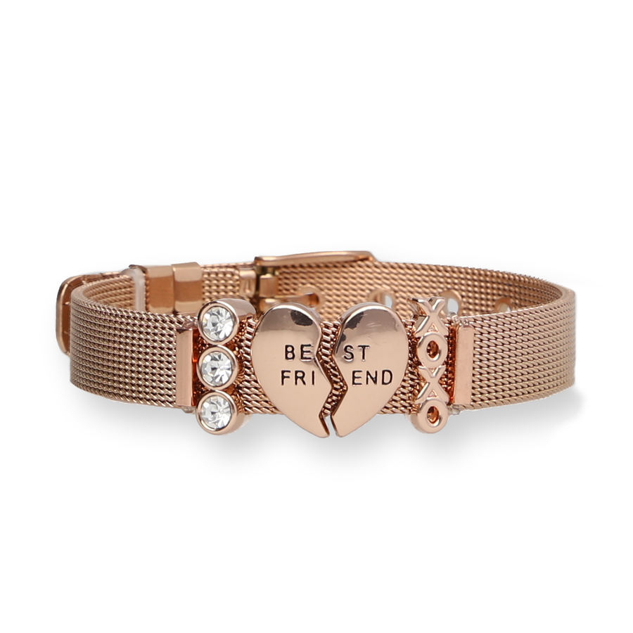 Mesharmband - FRIENDSHIP Rosegold - URBANHELDEN - Be inspired !