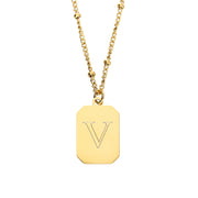 Octagon Necklace 1 Buchstabe
