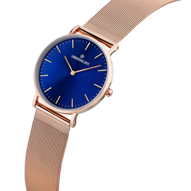 SUNSET Blue Mesh Rosegold