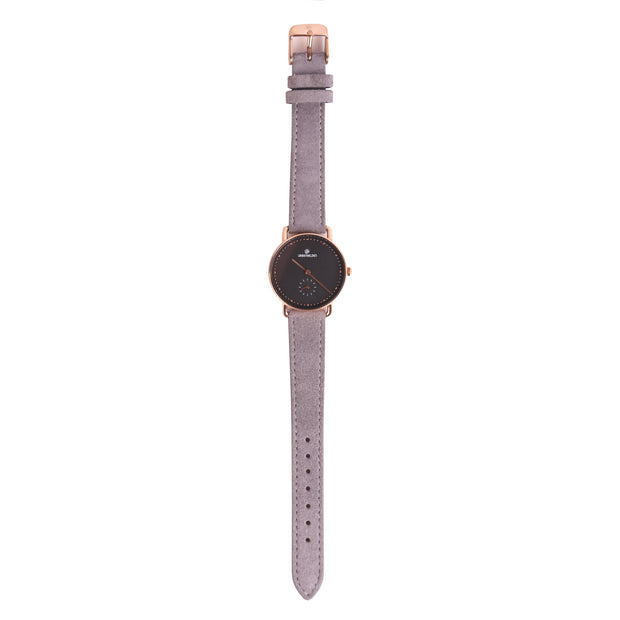 Leather Strap grey rosé 16mm