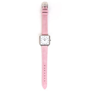 Leather Strap pink silver 16mm