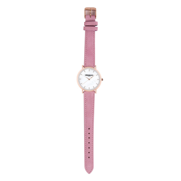 Leather Strap pink rosé 18mm