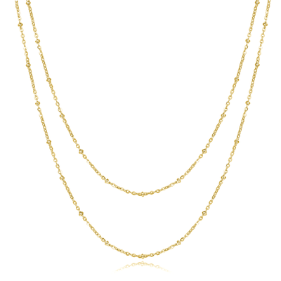 Double Choker Kette Gold