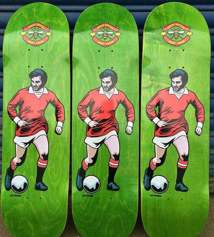 WIGHT TRASH SKATEBOARDS: Ben Grove 'Best' Guest Board LIMITED ED Green