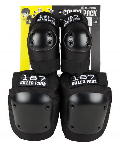 PADSET: 187 Killer Pads Adult Four Pack - Black