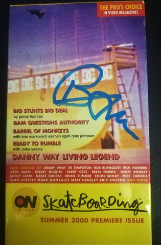 VHS: On Video Skateboarding - Summer 2000. SIGNED by BAM MARGERA