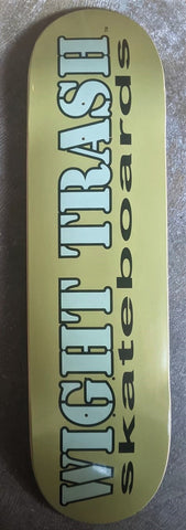 WIGHT TRASH SKATEBOARDS: LOGO DECK  - Olive Green