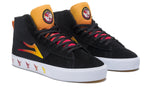 LAKAI SKATE SHOES: BLACK SABBATH Newport Hi. Black Suede. Sizes 8,9.
