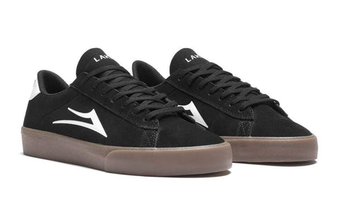 LAKAI SKATE SHOES: NEWPORT. Black/Gum Suede