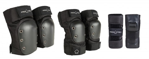 PADSET: Pro-Tec Street Gear Junior 3-Pack - Black