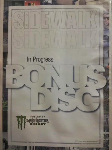 DVD: Sidewalk - In Progress Bonus Disc