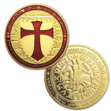 KNIGHTS TEMPLAR CROSS MASONIC GOLD COIN