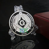SILVER PLATED COIN MASONIC COIN