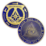 Masonic All-seeing Eye gold coins Freemason