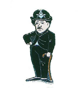 Masonic Charlie Chaplin Badge.