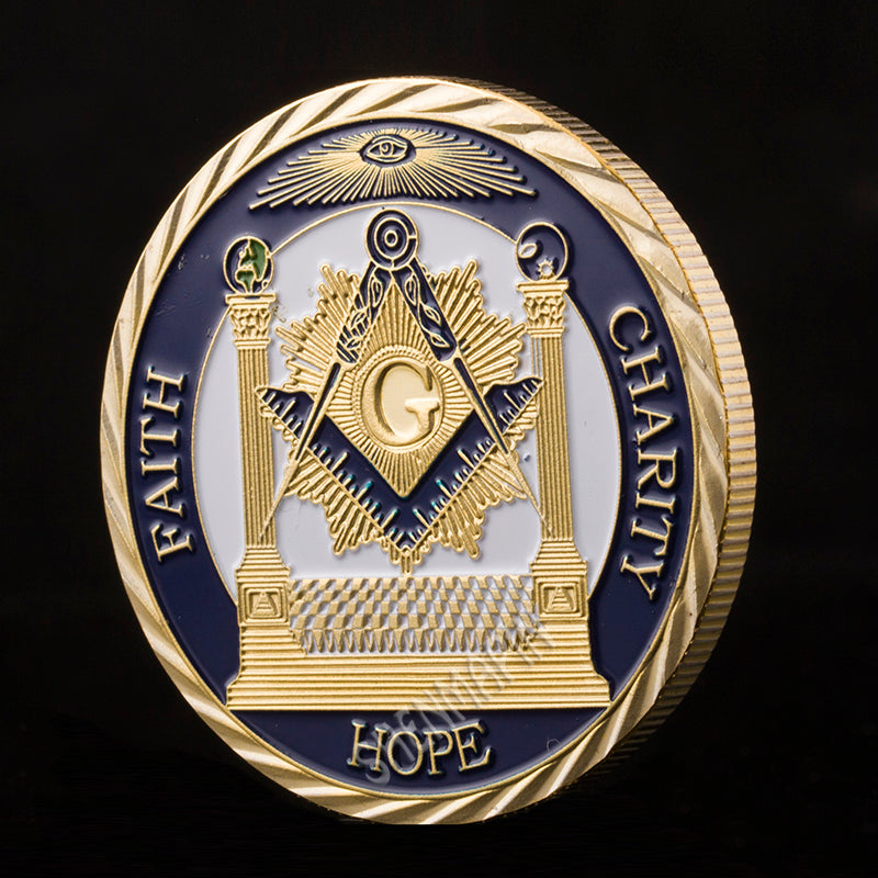 24 k gold plated Masonic medals coins