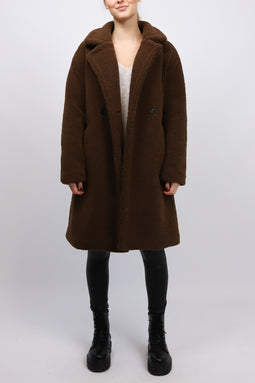KRISSI COAT DARKBROWN