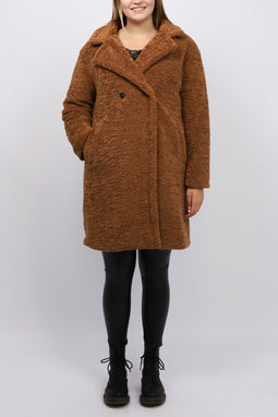 KRISSI COAT LIGHTBROWN