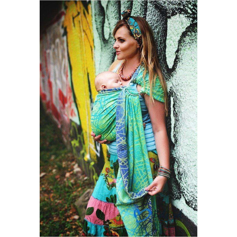 Fascia Ad Anelli Beloved Slings Green Abyss - Shop Millemamme