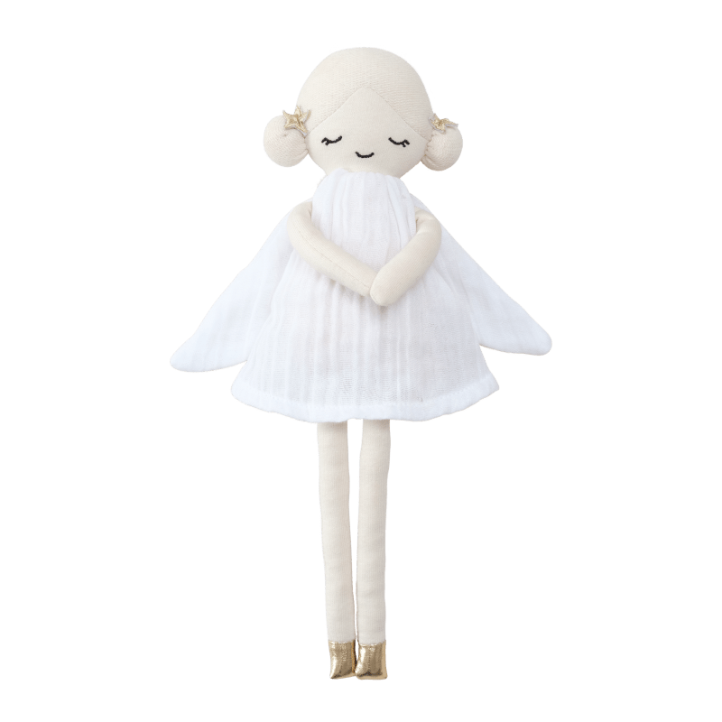 Bambola di stoffa in cotone biologico Winter Fairy Fabelab
