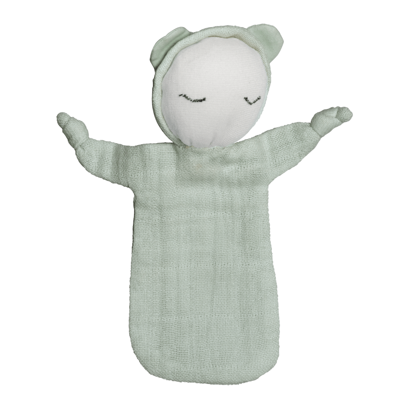 Bambola doudou in cotone biologico Cuddle Doll Beachgrass Fabelab