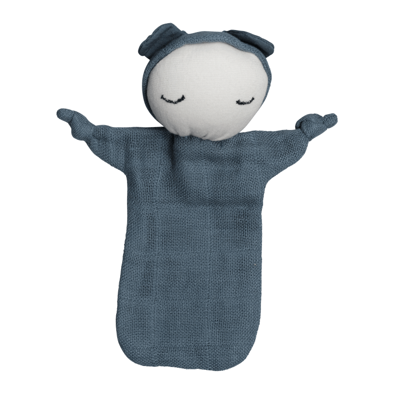 Bambola doudou in cotone biologico Cuddle Doll Blue Spruce Fabelab