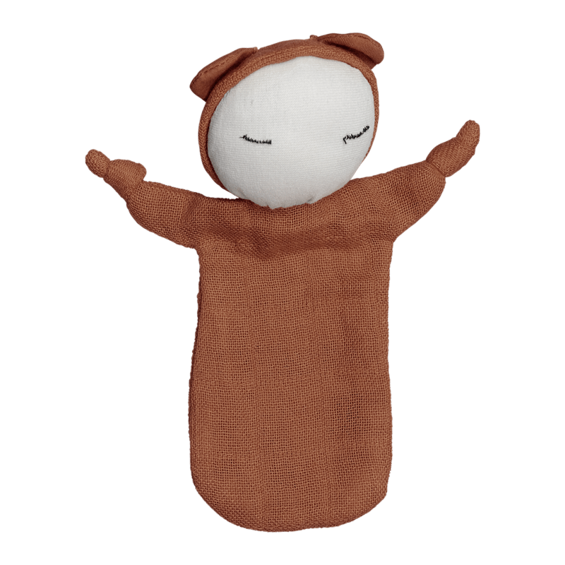 Bambola doudou in cotone biologico Cuddle Doll Cinnamon Fabelab