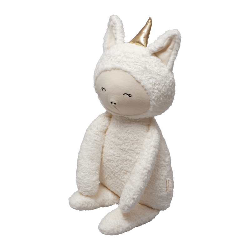 Peluche in cotone biologico Big Buddy Unicorn Fabelab